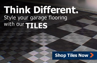 Think Different. Style your garage flooring with our TILES