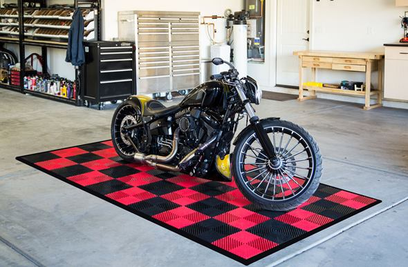 Vented Nitro Tile - Motorcycle Mats