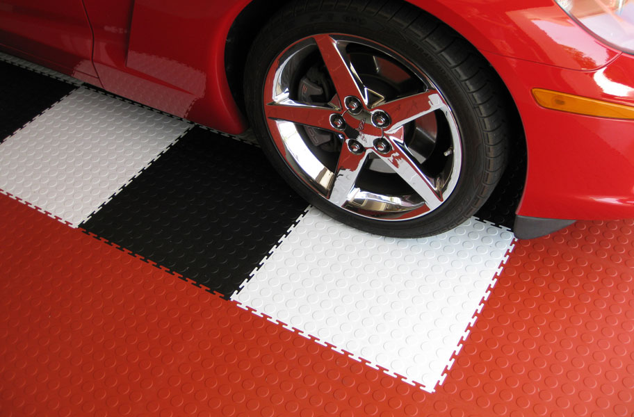 Coin Flex Tile Interlocking Pvc Garage Tiles