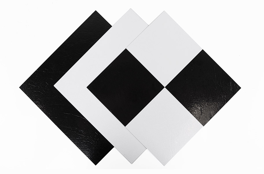 Black white self adhesive vinyl tile low cost flooring solid peel amp stick vinyl tile ppazfo