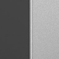 Matte Silver and Grey Ulti-MATE Garage Pro 1-Door Base Cabinet Kit