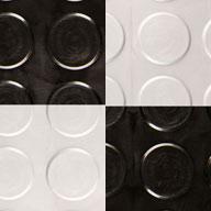 Black/Gunmetal Coin Nitro Tile - Motorcycle Mats