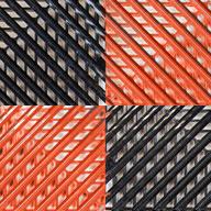 Black/Harley Orange Vented Nitro Tile - Motorcycle Mats