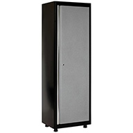 Black/Multi Granite American Heritage Single Door Tall Cabinet
