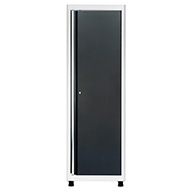 White/Charcoal American Heritage Single Door Tall Cabinet