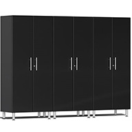 Midnight Black Metallic Ulti-MATE Garage 2.0 Series 3-PC Tall Cabinet Kit