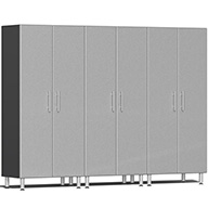 Stardust Silver Metallic Ulti-MATE Garage 2.0 Series 3-PC Tall Cabinet Kit