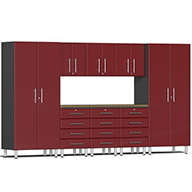 Ruby Red MetallicUlti-MATE Garage 2.0 9-PC Kit w/ Bamboo Worktop