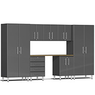 Graphite Gray Metallic UG22082GUlti-MATE Garage 2.0 8-PC Kit w/ Bamboo Worktop