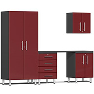 Ruby Red MetallicUlti-MATE Garage 2.0 5-PC Kit w/ Workstation