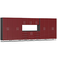 Ruby Red MetallicUlti-MATE Garage 2.0 11-PC Kit w/ Workstation
