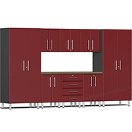 Ruby Red MetallicUlti-MATE Garage 2.0 9-PC Bamboo Worktop Kit