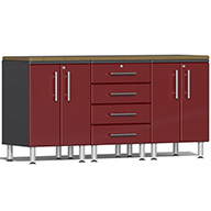 Ruby Red MetallicUlti-MATE Garage 2.0 4-Piece Workstation Kit