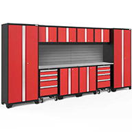 Red / Steel 56374NewAge Bold Series 12-PC Cabinet Set
