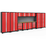 Red / Bamboo 56477NewAge Bold Series 14-PC Cabinet Set