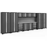 Gray / Steel 56135NewAge Bold Series 14-PC Cabinet Set