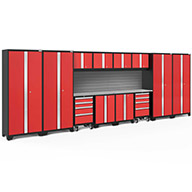 Red / Steel 56478NewAge Bold Series 14-PC Cabinet Set