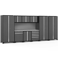Gray / Steel 58481NewAge Pro Series 10-PC Cabinet Set