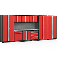 Red / Steel 58731NewAge Pro Series 10-PC Cabinet Set