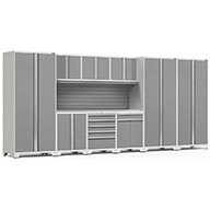 White / Steel 58907NewAge Pro Series 10-PC Cabinet Set