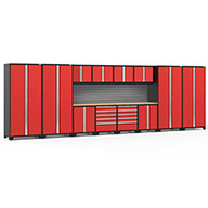 Red / Bamboo	58747NewAge Pro Series 14-PC Cabinet Set