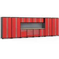Red / Bamboo V2 58741NewAge Pro Series 14-PC Cabinet Set