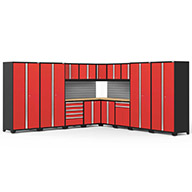 Red / Bamboo	58759NewAge Pro Series 16-PC Cabinet Set