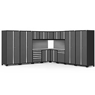 Gray / Steel 58595NewAge Pro Series 16-PC Cabinet Set