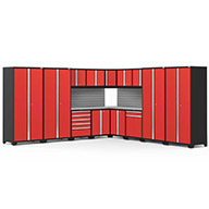 Red / Steel 58761NewAge Pro Series 16-PC Cabinet Set