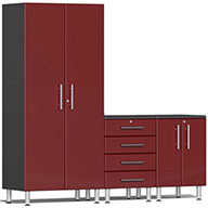 Ruby Red Metallic UG26043RUlti-MATE Garage 2.0 4-PC Kit w/ Channeled Worktop