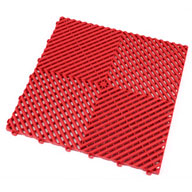 Racing Red Ribtrax Tiles