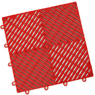 Victory Red Vented Grid-Loc Tiles™