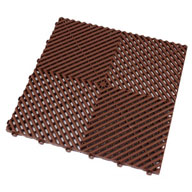 Chocolate Brown Ribtrax Tiles