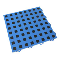 Blue w/ Black Premium Tiles w/ Traction Squares