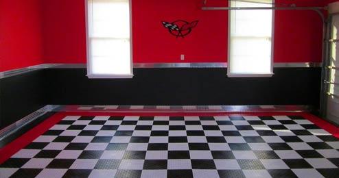 Garage Theme Ideas - Race track garage flooring