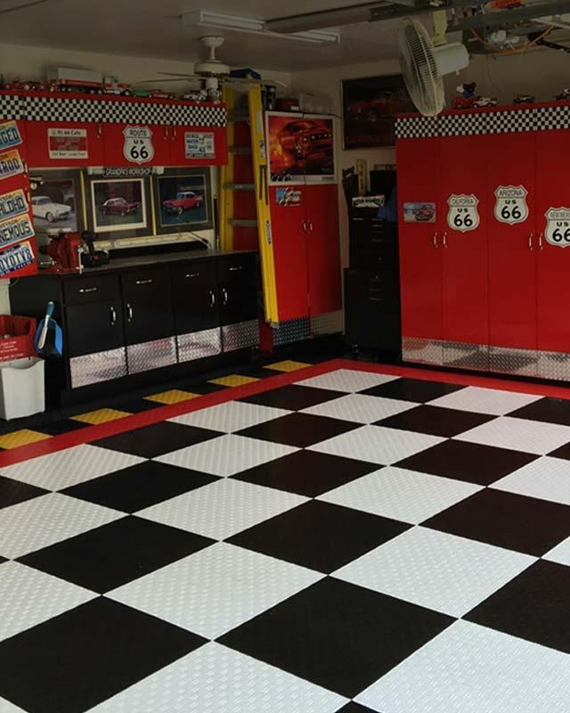 Garage Floor Tiles: Garage Matting, Garage Tiles, Garage