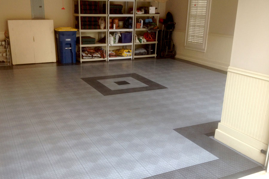 Coin Grid Loc Garage Tiles Modular Floor Covering