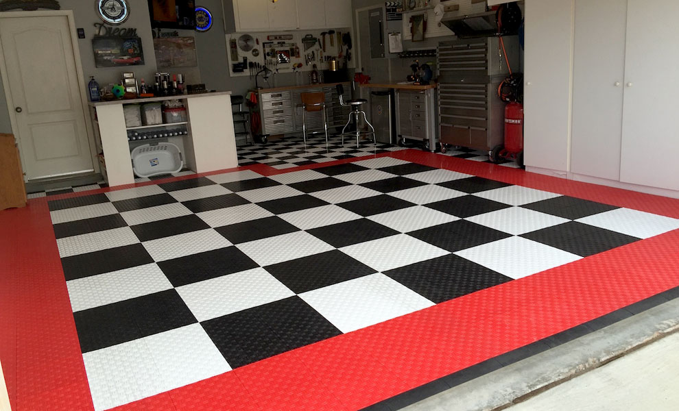 Diamond Grid Loc Garage Tiles Modular Garage Flooring